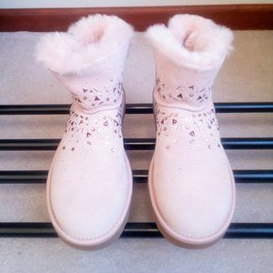 UGG Womens Suede Embellished Winter Boots - NWOB